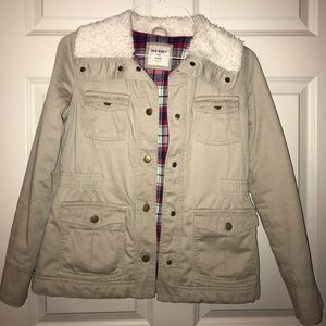 MAKE OFFERS🌟Cute beige jacket from OLD NAVY